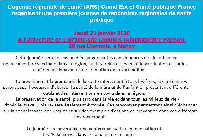 Rencontres Santé Publique Grand Est